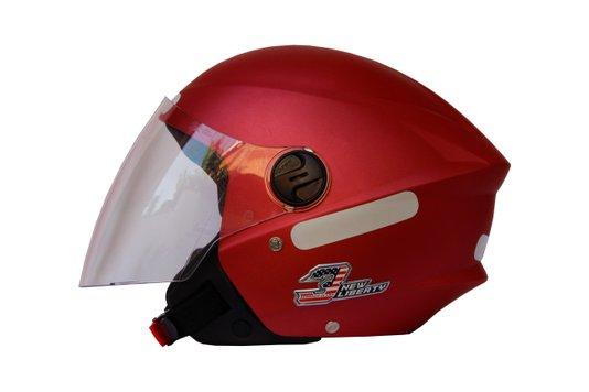 Capacete Aberto New Liberty 3 Vermelho Metalico ProTork - 56