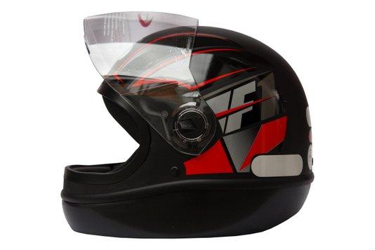 Capacete Formula 1 Neo Preto Fosco Com Vermelho Taurus - 56