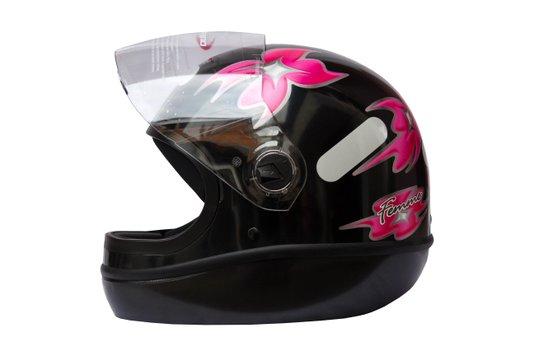 Capacete Formula 1 R Feminino Preto Taurus - 56
