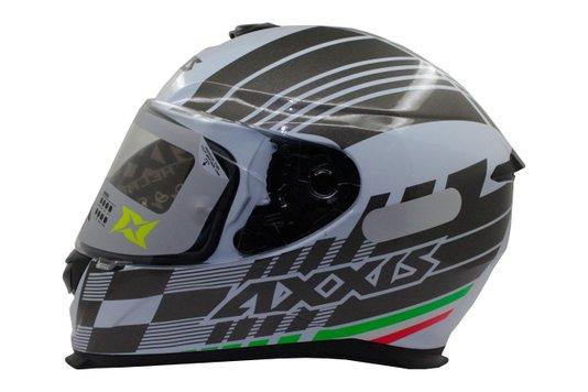 Capacete Axxis Modelo Eagle Italy Gloss Branco - 58