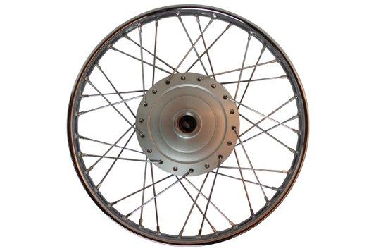 Roda Moto Completa Montada Cromada Dianteira Biz 100 125