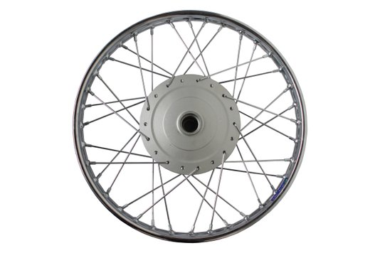 Roda Moto Completa Montada Cromada Dianteira Biz 17 x 1.20