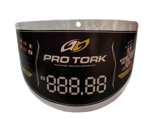Viseira Capacete New Atomic Grossa Cor Cristal Para Motociclistas Pro Tork