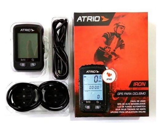 GPS ATRIO CICLISMO IRON 22 HORAS IPX6 - RESISTENTE A ÁGUA TELA - 1,9POL - CICLOCOMPUTADOR